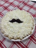 Chocolate Mustache Pie